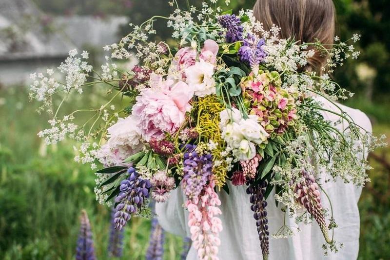 ramo novia flores silvestres vintage