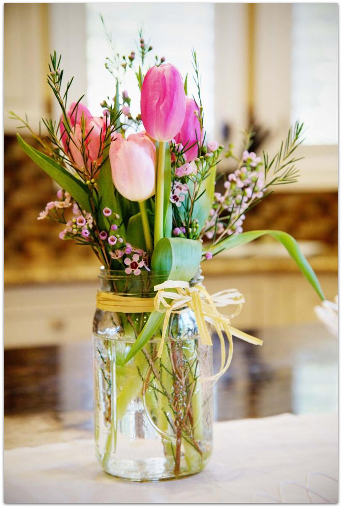 Como Hacer Centro Mesa Flores Naturales Primavera_facil 1  ~ Centros De Flores Naturales Para Mesas