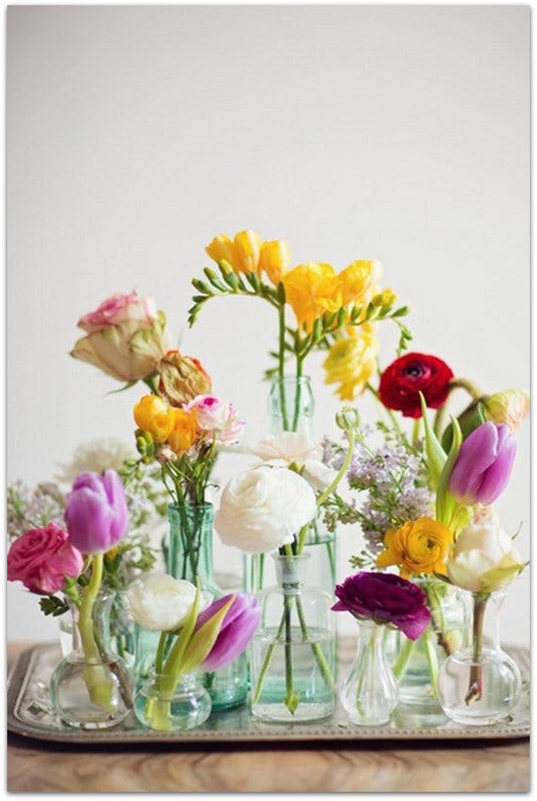 Como Hacer Centro Mesa Flores Naturales Primavera_facil 3  ~ Centros De Flores Naturales Para Mesas