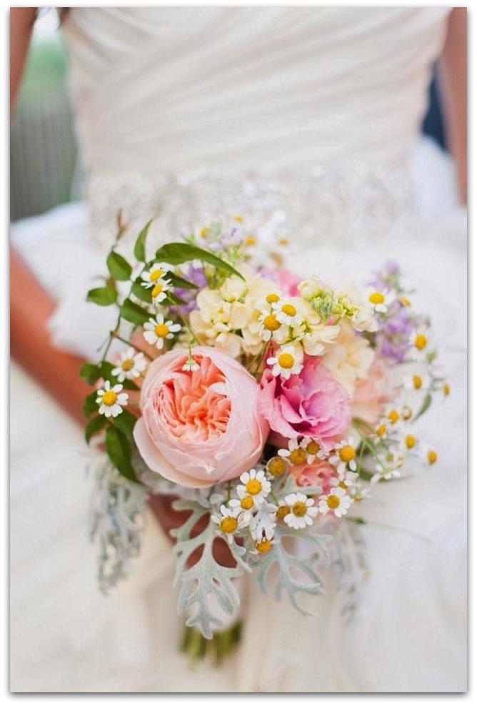 ramos de novia originales silvestre peonias rosas