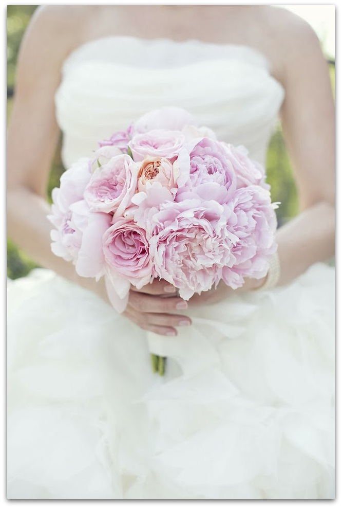 ramos de novia originales peonias rosas